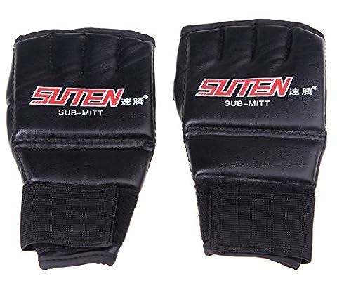 saysure–MMA en cuir demi Mitaines Moufles Gants de boxe Muay Thai Formation Gants de boxe–uk-bg-spt-000491