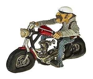 Figurine humoristique motard rocker mC easy rider statue