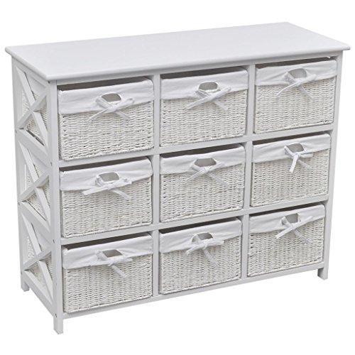 Lingjiushopping Schrank von Lagerung Akron weiß Farbe: weiß Schränke und Stipi Möbel Lagerung Körbe