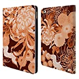 Head Case Designs Offizielle PLdesign Orange Pink Vintage Blumig Brieftasche Handyhülle aus Leder für iPad Air 2 (2014)