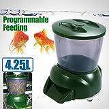 4,25 l Fischfutterautomat LVD Anzeige, Futtertimer