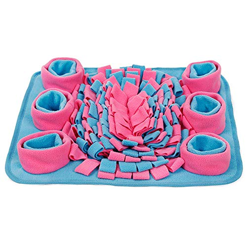YCGJ Dog Snuffle Mat, Pet Puzzle Toy Sniffing Training Pad Feeding Mat für Dog Release Stress (blau)