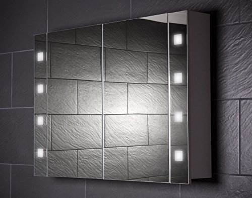 Spiegelschrank Holz Galdem Cube, 100 cm