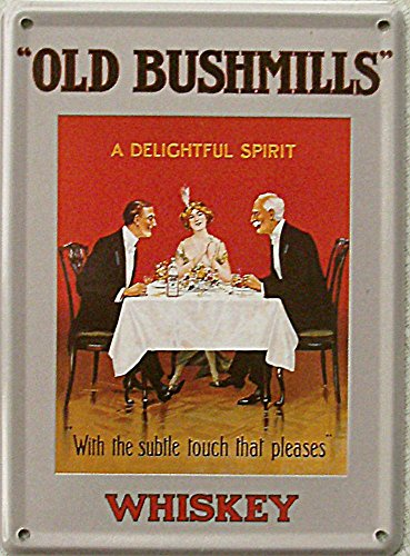 Mini-soggetto Old Bush mills whisky - mit sul tavolo, 8 x 11 cm