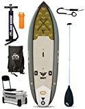 Drift Angeln Specialist SUP aufblasbares Stand Up Paddle Board (Sim2 SM3 W 10 in/3 m) grau Board + Paddle + Leash
