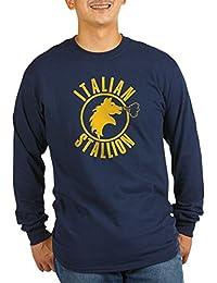 CafePress - The Italian Stallion (Dark) Long Sleeve Dark T-Shi - Unisex Cotton Long Sleeve T-Shirt