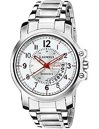 Laurels Lmw-inc-010707 Analog White Dial Men's Watch-Lmw-Inc-010707