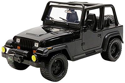 Jada Toys–Wrangler 1992Jeep Fahrzeug Miniatur, 98081bk–98083bk, schwarz, Maßstab 1/24 von JADA TOYS