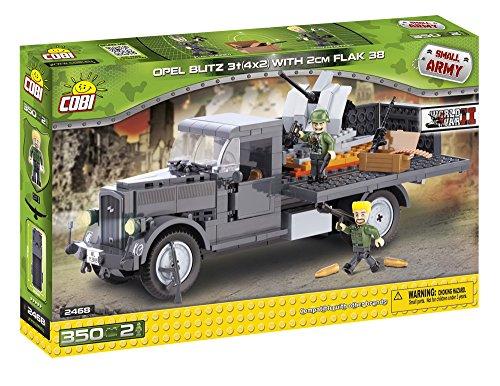 cobi-2468-konstruktionsspielzeug-opel-blitz-3t-4x2-mit-2-cm-flak-38-grau