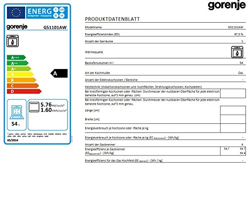 Gorenje G 51101 AW Freistehender Gasherd - 3