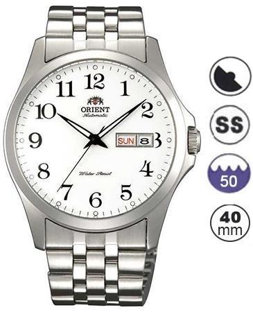 Orient-FEM7G002W9-Reloj-de-pulsera-para-Hombre-blanco-plata