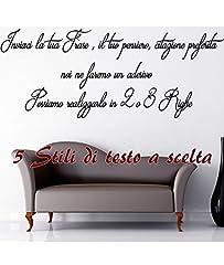 Idea Regalo - Adesivo Murale Frase Personalizzabile Wall Stickers Sticker Adesivi Murali Frase Personalizzata Camera Sala ambiente moderno e Classico StickerDesign