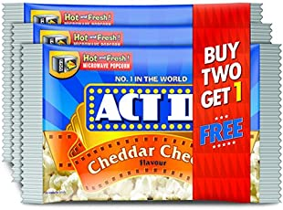 ACT II Popcorn MWPC, Cheddar Cheese, Buy Two Get 1FREE 297g