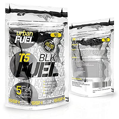 T5 black fat burners By Urban Fuel Weight Loss Pills for Men and Women - Diet Pills That Work Fast - Strong Slimming Tablets & Appetite Suppressant - Training Supplement with Fat Burning Formula from Urban Fuel