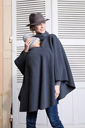 Poncho de grossesse et de portage - gris