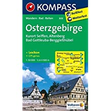 Osterzgebirge: Wanderkarte mit Kurzführer, Rad- und Reitwegen. GPS-genau. 1:50000 (KOMPASS-Wanderkarten, Band 808)