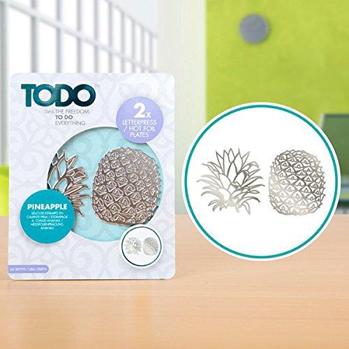 Papier Themed Teller (Todo Papier Card Craft Buchdruck und Hot Folie Teller–Ananas)