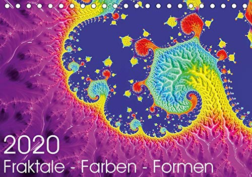 Fraktale - Farben - Formen 2020 (Tischkalender 2020 DIN A5 quer): 12 fraktale Kunstwerke für das Jahr (Monatskalender, 14 Seiten ) (CALVENDO Kunst)
