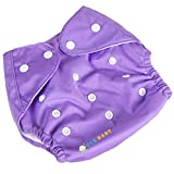 #4: Ole Baby Cloth Diaper REUSABLE Nappy Organic Cotton Anti Bacterial Washable Free Size Adjustable WaterProof Covered 0-2 Years