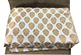#4: Kurti Material Blouse Fabric by meter White Brocade gold butti weave used for Women Dress, Gown, Saree, Bridal Lehenga, Designer Wear _150cm