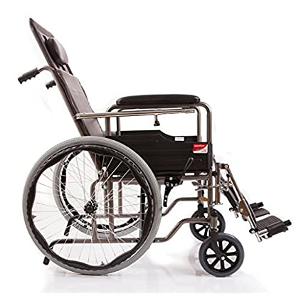 51a64gGcL0L. SS416  - M-CH silla de ruedas Tipo plegable de la mitad-mentira, con los pies ortopédicos, con la cómoda Sillas de ruedas eléctricas