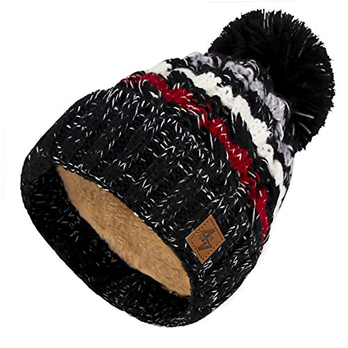 2c631657e52 4sold Mens Womens Beanie Warm Winter Cable Knitted Bobble Hat Plain Ski Pom  Wooly Cap Full