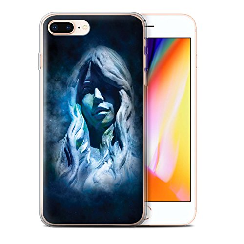 Stuff4 Gel TPU Hülle / Case für Apple iPhone 8 Plus / Löwe/Leo Muster / Tierkreis Star Schild Kollektion Jungfrau