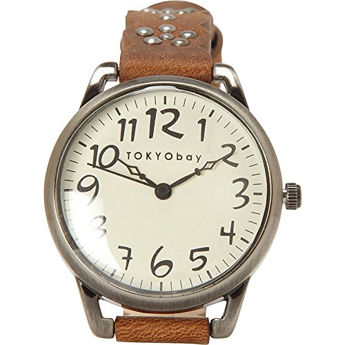 tokyobay-t259-br-womens-scallop-analog-watch-brown