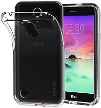Funda LG K10 2017, iVoler Ultra Transparente LG K10 2017 Carcasa Funda Suave Flexible Extremadamente Delgada piel Resistente a los Arañazos silicona TPU protectora para LG K10 2017