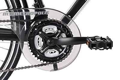 KS Cycling Herren Trekkingrad Alu-Rahmen 28'' Metropolis RH 51 cm Multipositionslenker Fahrrad, schwarz