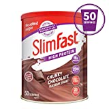 SlimFast High Protein Meal Replacement, Chunky Chocolate, 50 Serving