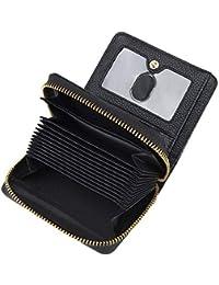 69285c0c95c COCASES Tarjetero Monedero de Piel Auténtica RFID Anti-Robo 4 Colores  Regalo para Mujer