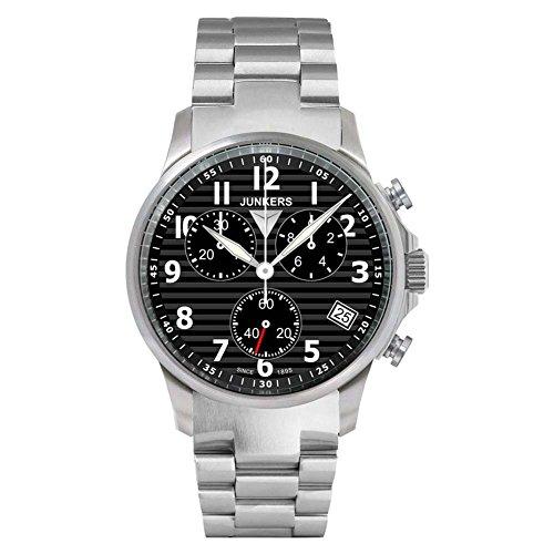 Junkers Herren-Armbanduhr Chronograph Quarz Edelstahl 6890M2