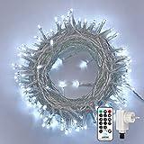 Qedertek Guirlande Lumineuse Micro 200 LED Blanc Froid 20m de Long pour Décoration de Chambre, Vitrine, Bistrot, Noël, Mariage