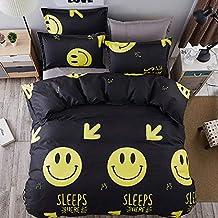 GIO010 Emoji Smile 3 Piezas Juego de Cama Infantil para cama 90cm 1x Funda Nórdica Reversible
