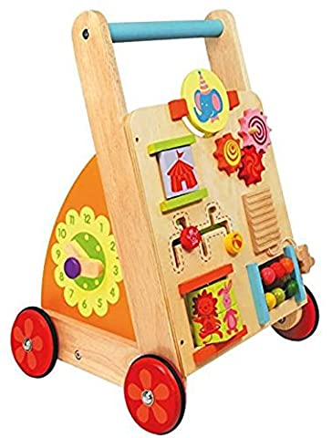Multi Activity Walker Wooden Push Wagon