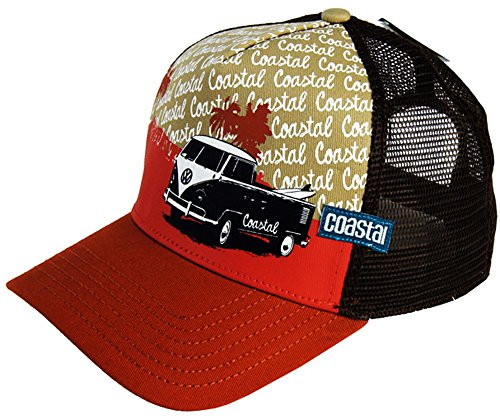 Surfer Headwear Trucker Mash Cap BULLI T1 Basecap orange/braun
