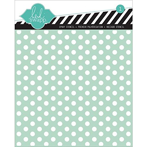 Buy Heidi Swapp Polka Dot Stencil, 6 by 6-Inch Discount