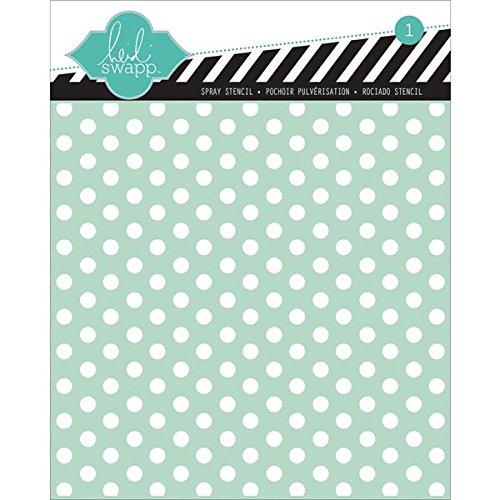 Buy Heidi Swapp Polka Dot Stencil, 6 by 6-Inch Discount