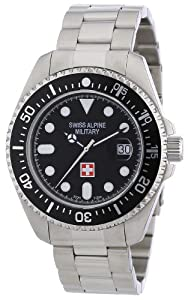 Reloj Swiss Alpine Military CR150 para caballero de acero inoxidable negro de Swiss Alpine Military