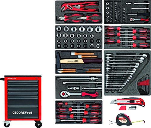 GEDORE red R21560001 Werkzeugsatz im Werkstattwagen MECHANIC 119-teilig