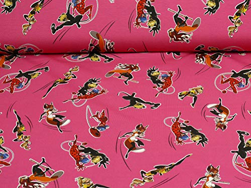 Fitzibiz Ladybug, Cat Noir, Queen Bee, Rena Rouge Jersey, Öko-Tex Standard, pink (25cm x 160cm) (Bee Kleid Queen)