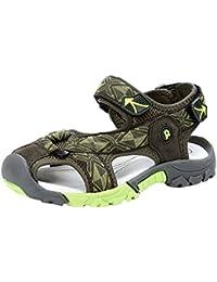 e4bda07300c Enfant Garçon Fille Été Sandales de Marche Extérieur Plates Souple Semelle  Velcro Chaussures Sport Bout Fermé Tongs Antidérapant Beach…