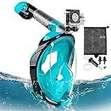 Eastshining Snorkel Mask Full Face Diving Snorkeling Swimming Mask Gear 180° Panoramic Anti-Fog