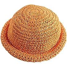 Leisial Verano Sombrero de Sol Gorro de Paja Playa Sombreros del Cubo  Infantiles para Niños Bebés ad7d209cf97