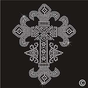 Twisted envy sTRASS thermocollant en forme de croix motif crucifix