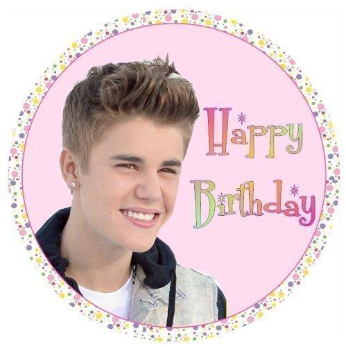 simply topps Justin Bieber Alles Gute Zum Geburtstag Rund 7.5