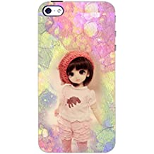 PrintDhaba CUTE DOLL D-6657 Back Case Cover for APPLE IPHONE 4S (Multi-Coloured)