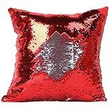 LHWY 2016 Housses de coussin double couleur Glitter paillettes Throw Pillow Case Cafe maison Decor