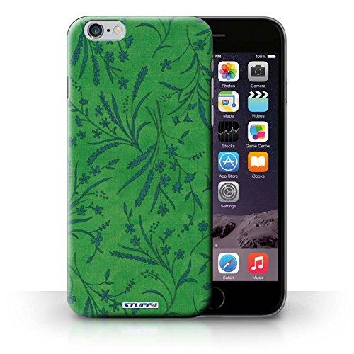 Kobalt® Imprimé Etui / Coque pour iPhone 6+/Plus 5.5 / Jaune/Vert conception / Série Motif floral blé Vert/Bleu